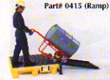Optional ramps allow safe and convenient drum handling.