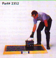 Designed for use as a storage pad for batteries and other hazardous packages.